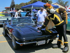GT pats a very glossy '64 Corvette Stingray convertible!
