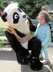 Panda's first Fairyland meet & greet