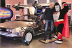 Ultra-Gor meets famous actor Christopher Lloyd, next to the BTTF Delorean!