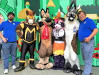 Group Shot 2(with Masked Mustang, Baron, Candy Coon, Baron, and Jake the Caribou; photo by Super Jayhawk.