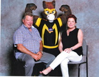 Masked Mustang gets a double-high honor by getting pictured with William Shatner AND Kate Mulgrew!
