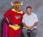Bull-Itt gets a photo with William Shatner, his proudest moment!