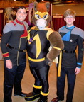 GT with the best dressed Starfleet officers at the con!