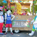 Sam, Polka Dog, and Halogen at the mobile Tiki Bar!