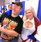 Chris and a pirate version of Power Girl