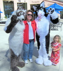 Nali & Tux with the Mayor of Mountain View, Lisa Matichak